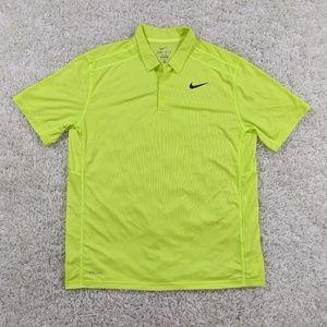 Nike Dri-Fit Polo XL Neon Swoosh Men A01